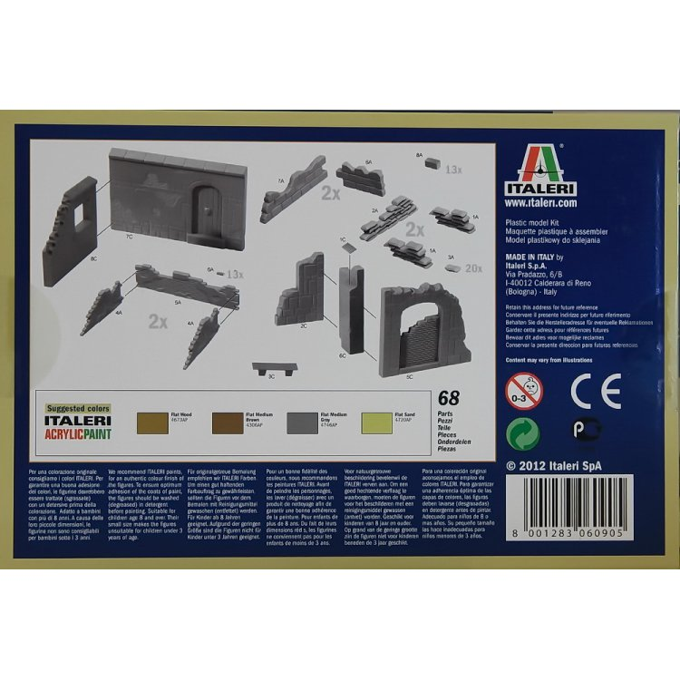 Italeri Walls And Ruins  1//72 6090