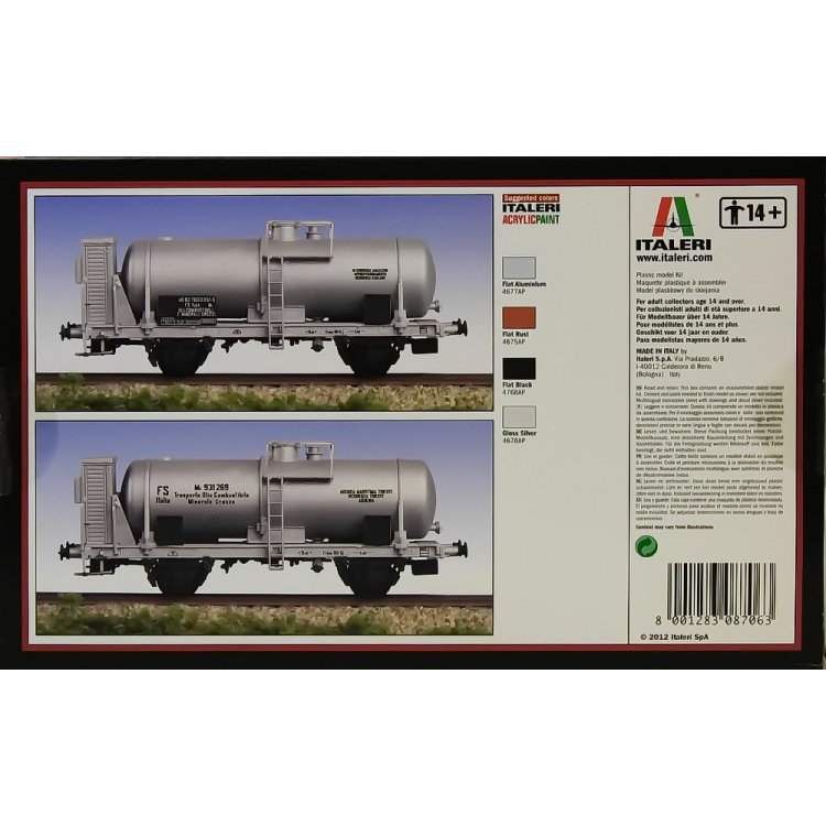 ITALERI Train Model 1//87 M Tank with cab H0 Scale Hobby 8706 T8706