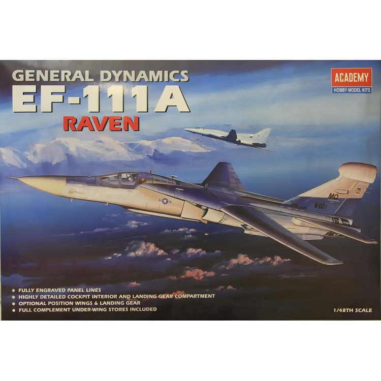 Academy 1:48 EF-111A Raven - The Display Case - ARC