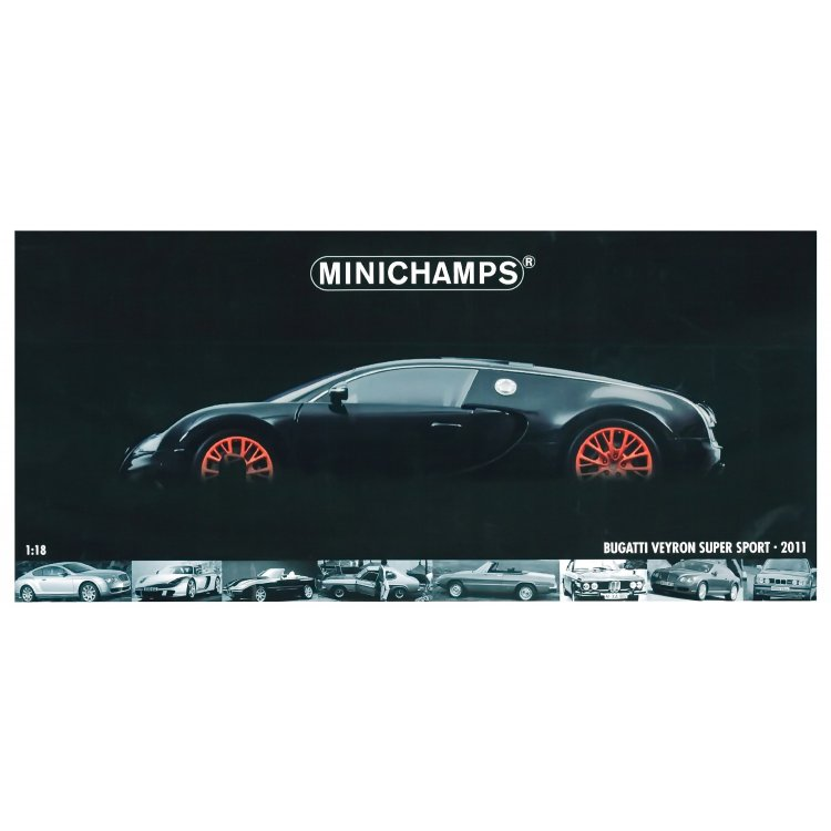 Bugatti Veyron Super Sport Black Orange: Minichamps 1:18 100 110842 BUGATTI VEYRON SUPER SPORT