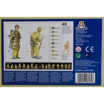 Plastic Kit 1:72 Model 6134 ITALERI WWII German Paratroopers Tropical Uniform