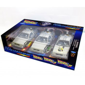 Welly 1:24 WL224003 Back To The Future Delorean 1, 2, 3 Movie Trilogy Set