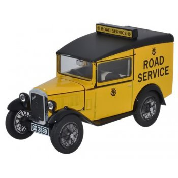 Oxford Diecast 1:43 ASV002 Austin Seven RN Van - AA Automobile Association