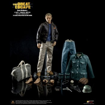 "Star Ace SA0007 1/6 (12"" Scale) Steve McQueen - Capt Virgil Hilts Deluxe Edition Collectable Figure"