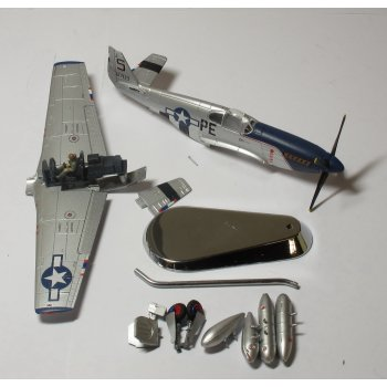 "Gemini Aces BY001 1/72 GAUSABBB P-51B Mustang Lt. Francis Horne, ""Snoot's Sniper"", 352FG, 328FS, Bodney 1944 ** SPARES OR REPAIR **"