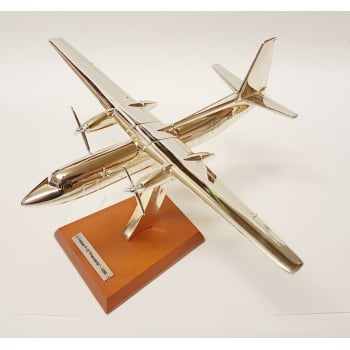 Atlas Editions 1:200 HB06 Silver Plated Aircraft - Fokker - F-27 Friendship - 1955