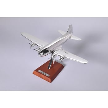 Atlas Editions 1:200 HB16 Silver Plated Aircraft - Boeing B-307 Stratoliner - 1938