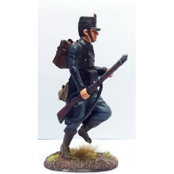Empire Miniatures 1:32 W1-1405 WW1 Belgian 10th Line Infantry Advancing at the Trail