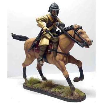 Empire Miniatures 1:32 CW-1455 English Civil War Ironside Harqubusier Officer Charging