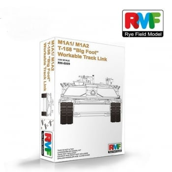 """Rye Field 1:35 RM5009 M1A1/M1A2 T-158 """"Big Foot"""" Workable Track Link - Kit Accessory Part"""