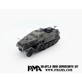 PMA Models 1/72 PMAP0316 SD.Kfz.8 DB10, Gepanzerte 12T, German Army - Highly Detailed