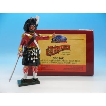 Britains 50016C - British 93rd Highlander Officer Redcoats Collectors Club Figure