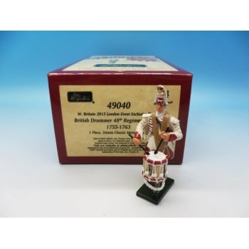 Britains 49040 - 2013 London Event Figure Redcoats/48th Regiment of Foot Drummer, 1755-1763