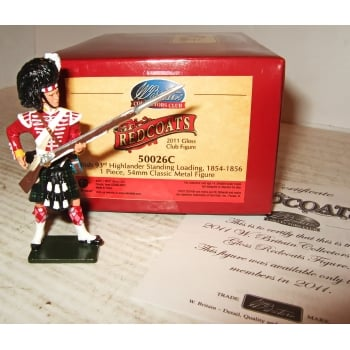 Britains 50026C British 93rd Highlander Standing Loading, Crimean War 1854 Collectors Club Figure