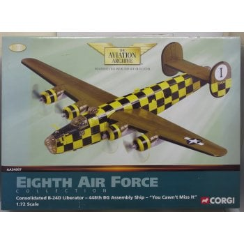 Corgi 1:72 AA340007 Consolidated B-24D Liberator USAAF 448th BG, #41-23809 You Cawn't Miss It, RAF Bungay, England, February 1944, Formation Assembly Ship - EX DISPLAY