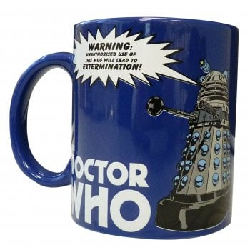 50fifty BBC Doctor Dr Who Dalek Stoneware 330ml Tea Coffee Mug Extermination Warning