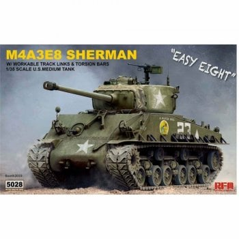 Rye Field 1:35 RM5028 US Sherman M4A3E8 with Workable tracks & torsion bars