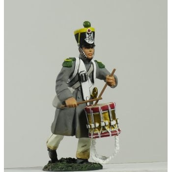 Britains 17996 - Napoleonic French Light Infantry Voltigeur Drummer Advancing No.1