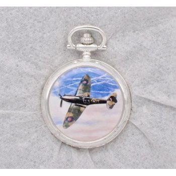 Atlas Editions 4680110 Aces of the Air Pocket Watches - Salute to the Few - Spitfire Mk.I, Kent, August 1940