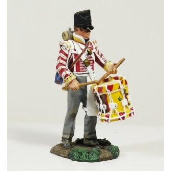 Britains 36097 - Napoleonic British 44th Foot Regiment Battalion Company Drummer Standing Playing