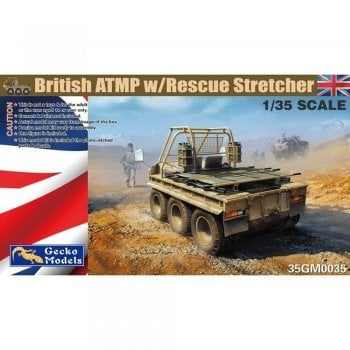 Gecko Models 1:35 35GM035 British ATMP w Rescue Stretcher and Driver Figure Military Model Kit
