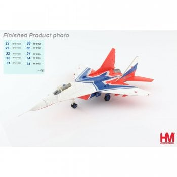 Hobby Master 1:72 HA6511B MIG-29 Strizhi Aerobatic Team Russian Aerospace Force, 2019 (with decal of numbers : 29, 30, 31, 32, 34)