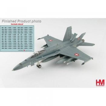Hobby Master 1:72 HA3532B F/A-18C Hornet Swiss Air Force (with decal from no : J-5001 to J-5026)