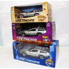 TY123 Back to the Future BTTF Set of 3 Delorean 1:24 Scale Diecast Model Cars