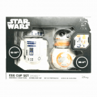 Official Star Wars R2-D2 & BB-8 Ceramic Breakfast Egg Cup Set - Boxed