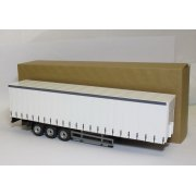1:50 CR027 Cararama Modern 3 Axle Curtainside Trailer White