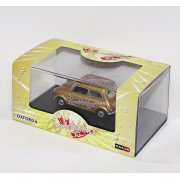 1:43 MIN018 Gold Mini Car  - Congratulations - Number Plate WE11 DONE