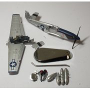 "BY001 1/72 GAUSABBB P-51B Mustang Lt. Francis Horne, ""Snoot's Sniper"", 352FG, 328FS, Bodney 1944 ** SPARES OR REPAIR **"