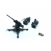 1/72 PMAP0310 German 88mm FLAK 37 Snow & Trailer, German Army 1942 - Highly Detailed