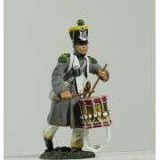 17996 - Napoleonic French Light Infantry Voltigeur Drummer Advancing No.1